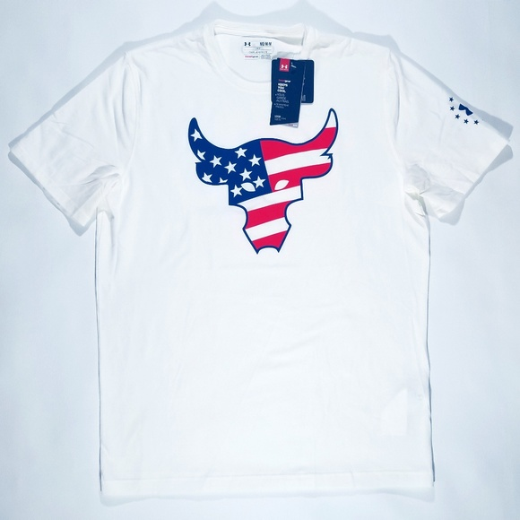 Under Armour Project Rock Bull Flag T-Shirt Mens M a864e049a